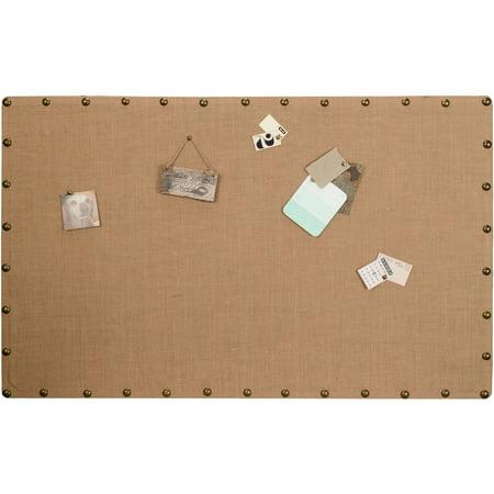 Linon Burlap Nailhead Corkboard, Multiple Sizes](Bullentin Board)