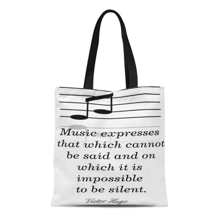 LADDKE Canvas Tote Bag About Music Appreciation Classes Teachers Students Victor Hugo Reusable Handbag Shoulder Grocery Shopping Bags