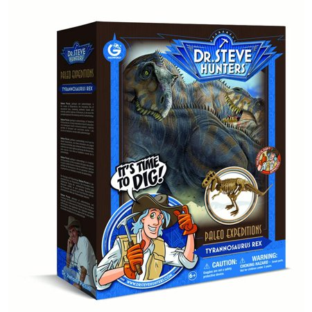 Dr. Steve Hunters - Paleo Expedition Dino Dig Excavation Kit - T. rex - 13 pieces - Uncle Milton Scientific Educational
