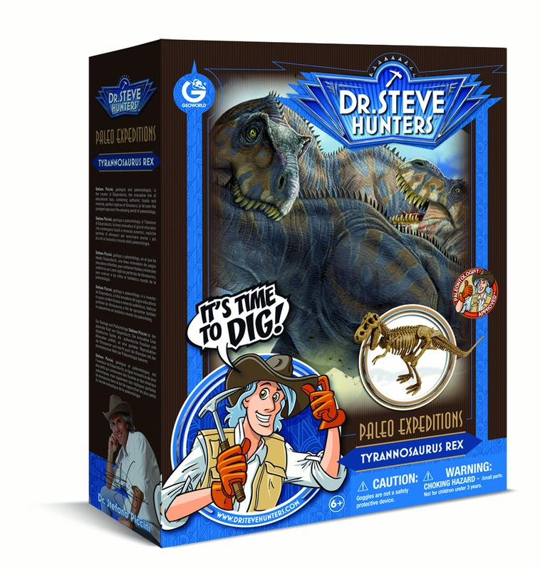 Dr. Steve Hunters - Paleo Expedition Dino Dig Excavation Kit - T. rex - 13 pieces - Uncle Milton Scientific Educational Toy