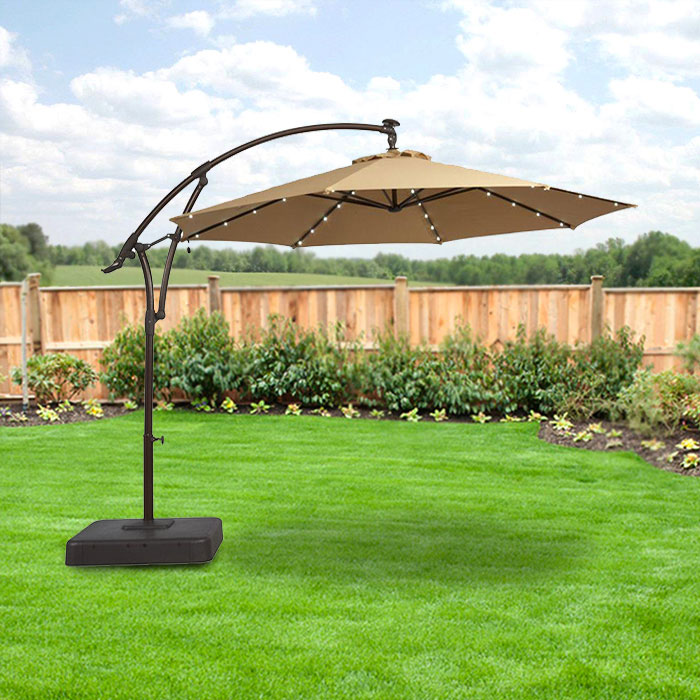 Garden Winds Replacement Canopy Top For Hampton Bay Solar Offset Umbrella