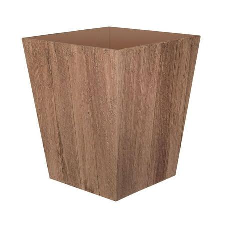 Suncast 16 Inch Farmington Decorative Rustic Wood Finish Garden Planter, Wood