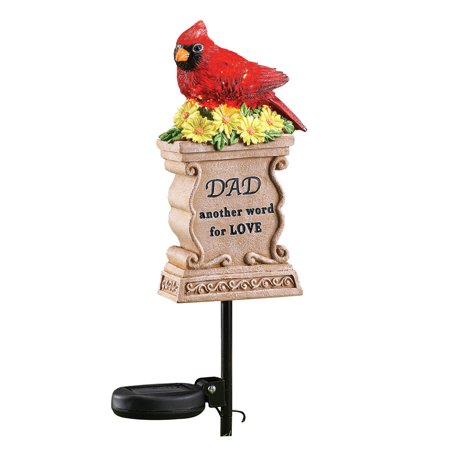 Solar Bird and Flowers Memorial Yard Stake for Loved One, Outdoor Decoration](Outside Yard Decorations)