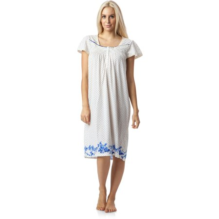5361fc92cb Casual Nights Women s Botanic Lace Short Sleeve Nightgown - Walmart.com