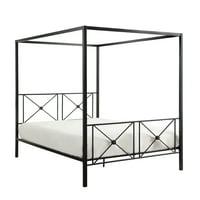 RAPA Canopy Metal Platform Bed, Queen size