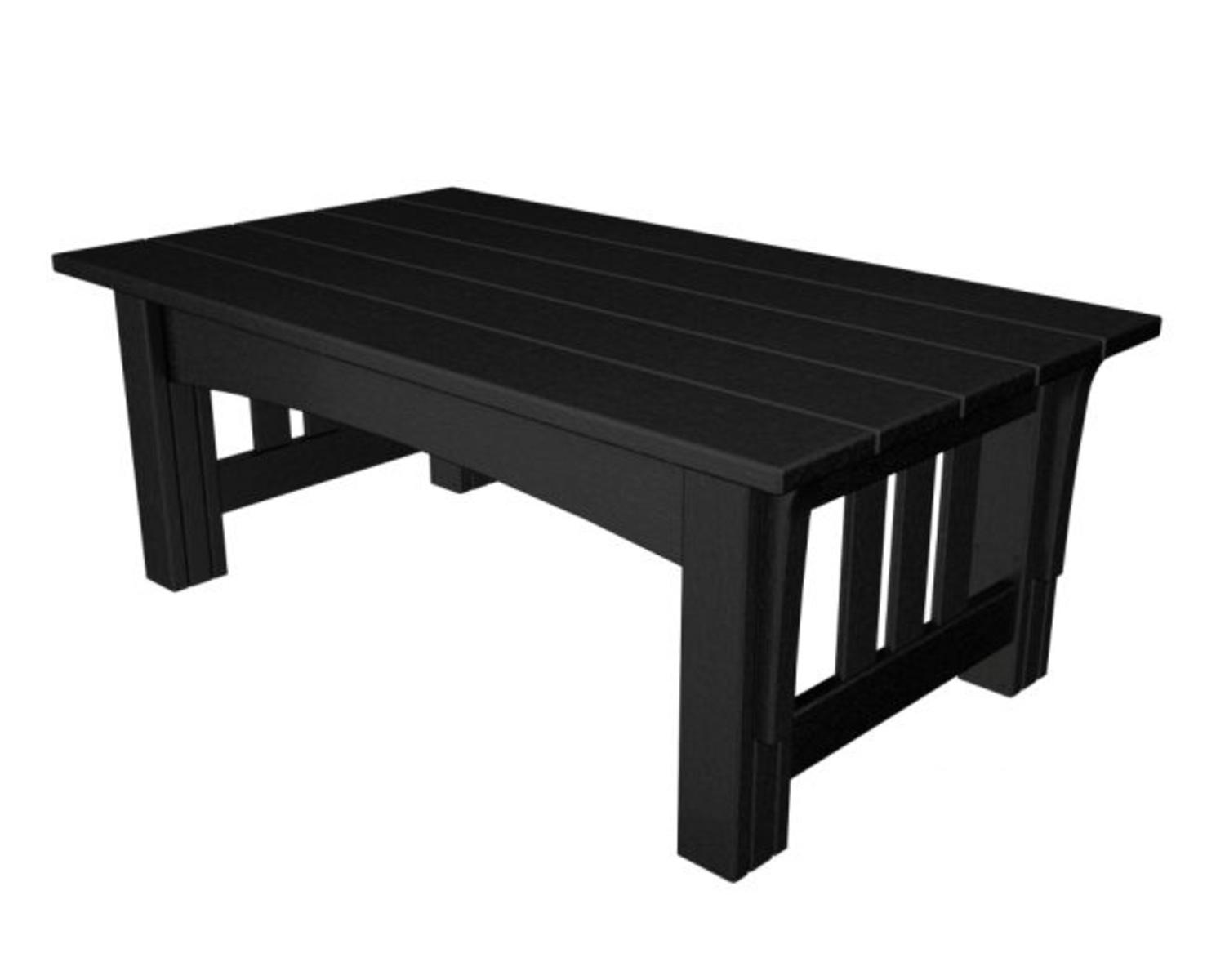 Recycled Earth-Friendly Outdoor Patio Mission Style Coffee Table Black by Eco-Friendly Furnishings
