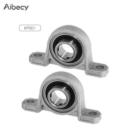 222 Mounted Ball Bearing (Aibecy KP001 Bore Diameter 12mm Ball Bearing Pillow Block Self-aligning Bearing Mounted Block 3D Printer Accessory Kit Pack of 2pcs)