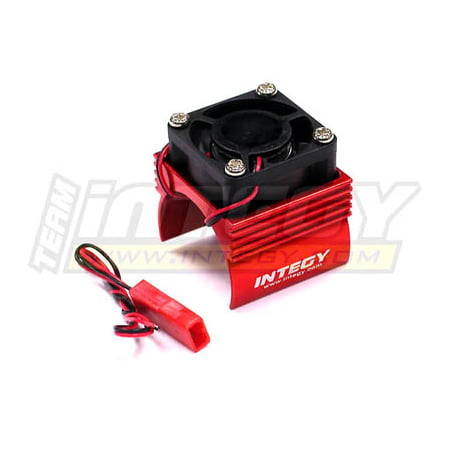 Integy RC Toy Model Hop-ups C23141RED Super Brushless Motor Heatsink+Cooling Fan 1/16 Traxxas ERevo,Slash,Summit,Rally