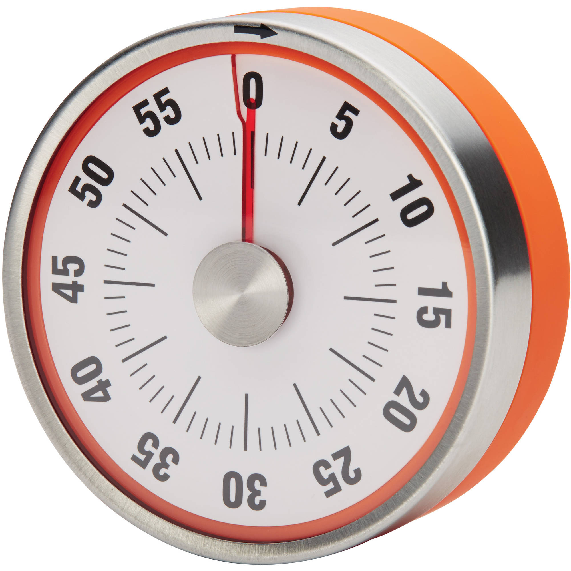 Rachael Ray Magnetic 60 Minute Stainless Steel Kitchen Timer With Orange  Trim
