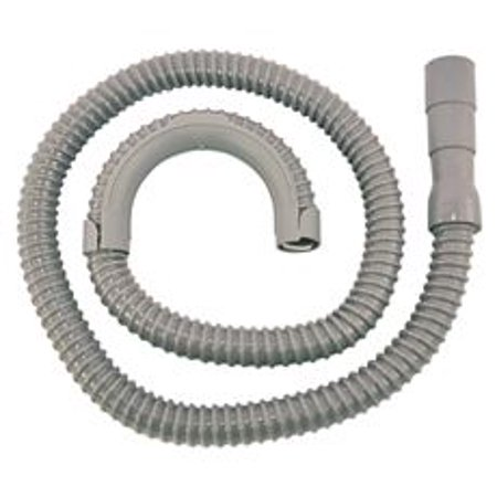 WASHING MACHINE DRAIN HOSE 3/4  X 5' 60 Inch 4 Way Rubber Expansion End Fits 1 , 1-1/8  and 1-1/4  Corrugated High Density Polypropylene Hose Hose Clamp Included