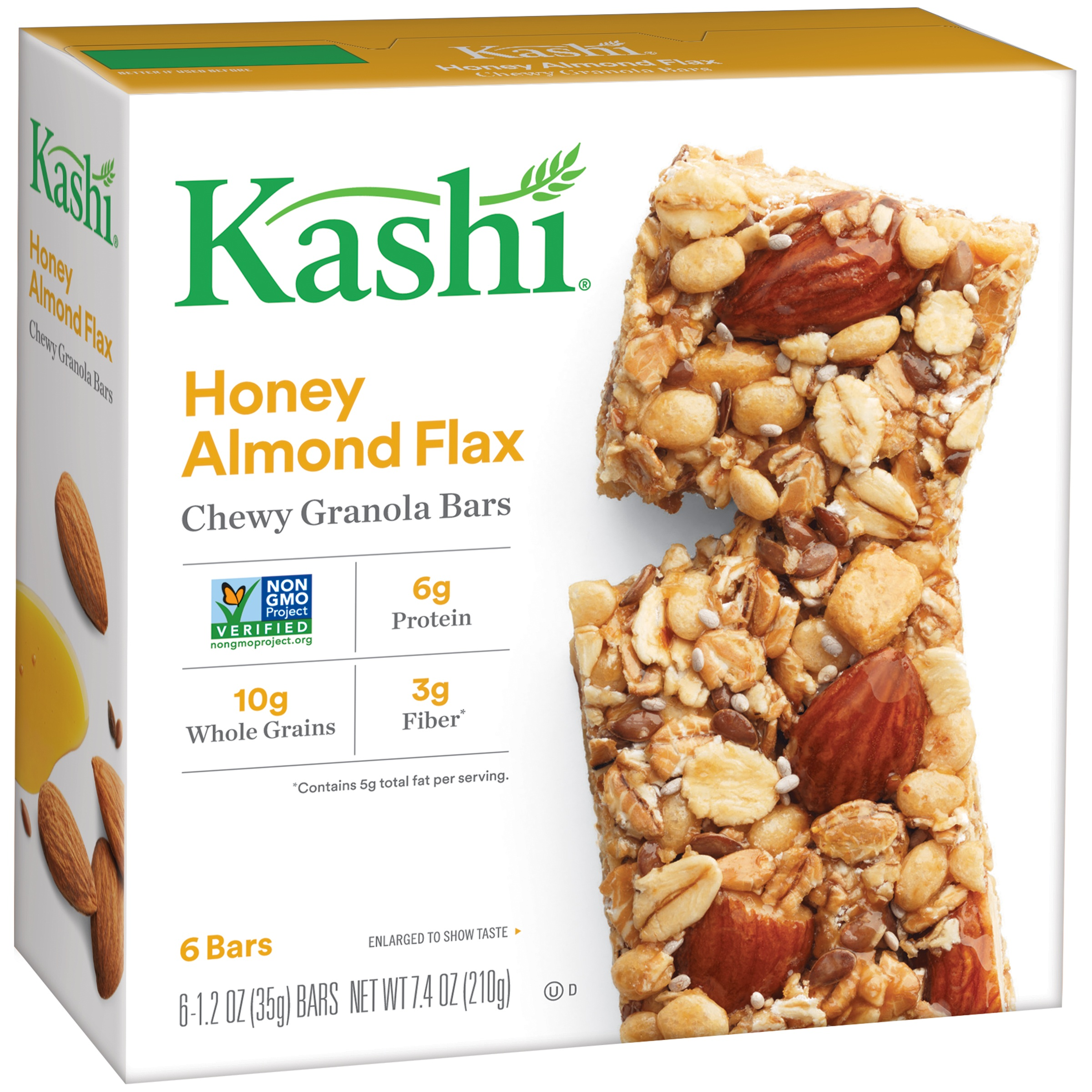 Kashi Honey Almond Flax Chewy Granola Bars, 6-1.2 bars 7.4 oz box