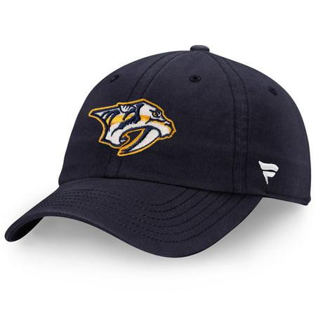 Nashville Predators Fanatics Branded Head Core Fundamental Adjustable Hat - Navy - OSFA