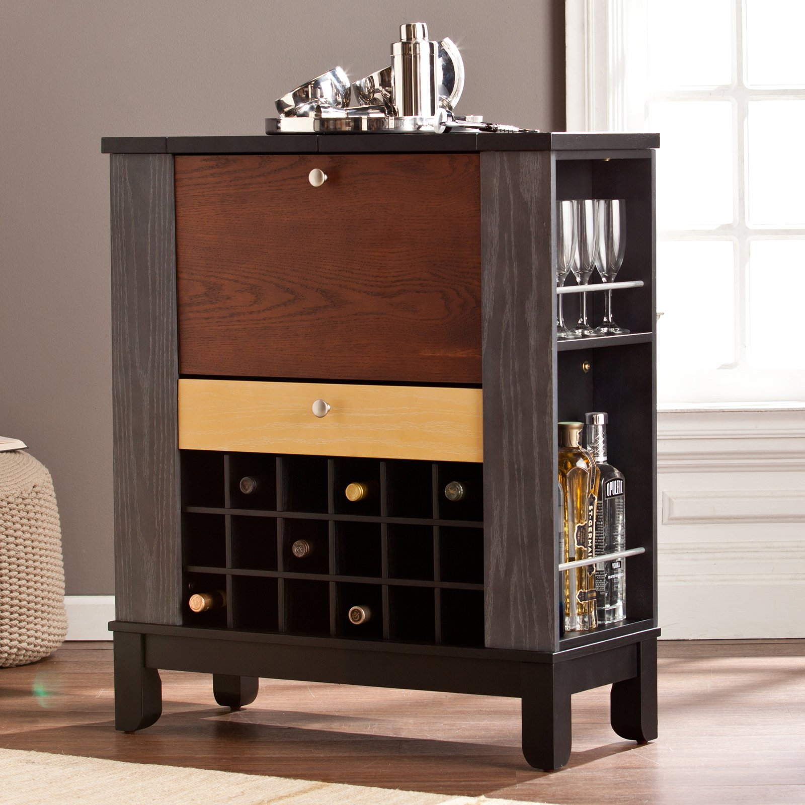 Southern Enterprises Warren Wine/Bar Cabinet - Walmart.com