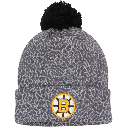 Boston Bruins Mitchell & Ness Vintage Crack Pattern Knit Hat - Gray - OSFA