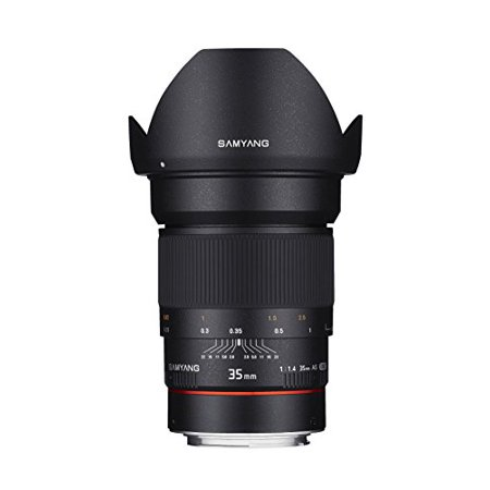 Samyang SYAE35M-C 35mm F1.4 Aspherical Lens with Chip for Canon AE/EF-S (Chip In Glasses Lens)