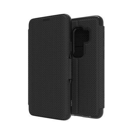 GEAR4 D3O Samsung Galaxy S9 Plus Black BookCase (Oxford) - SGS9LOXDBLK - image 2 de 2