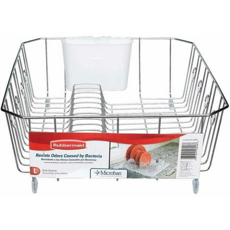 - Rubbermaid Large Wire Dish Rack, Chrome