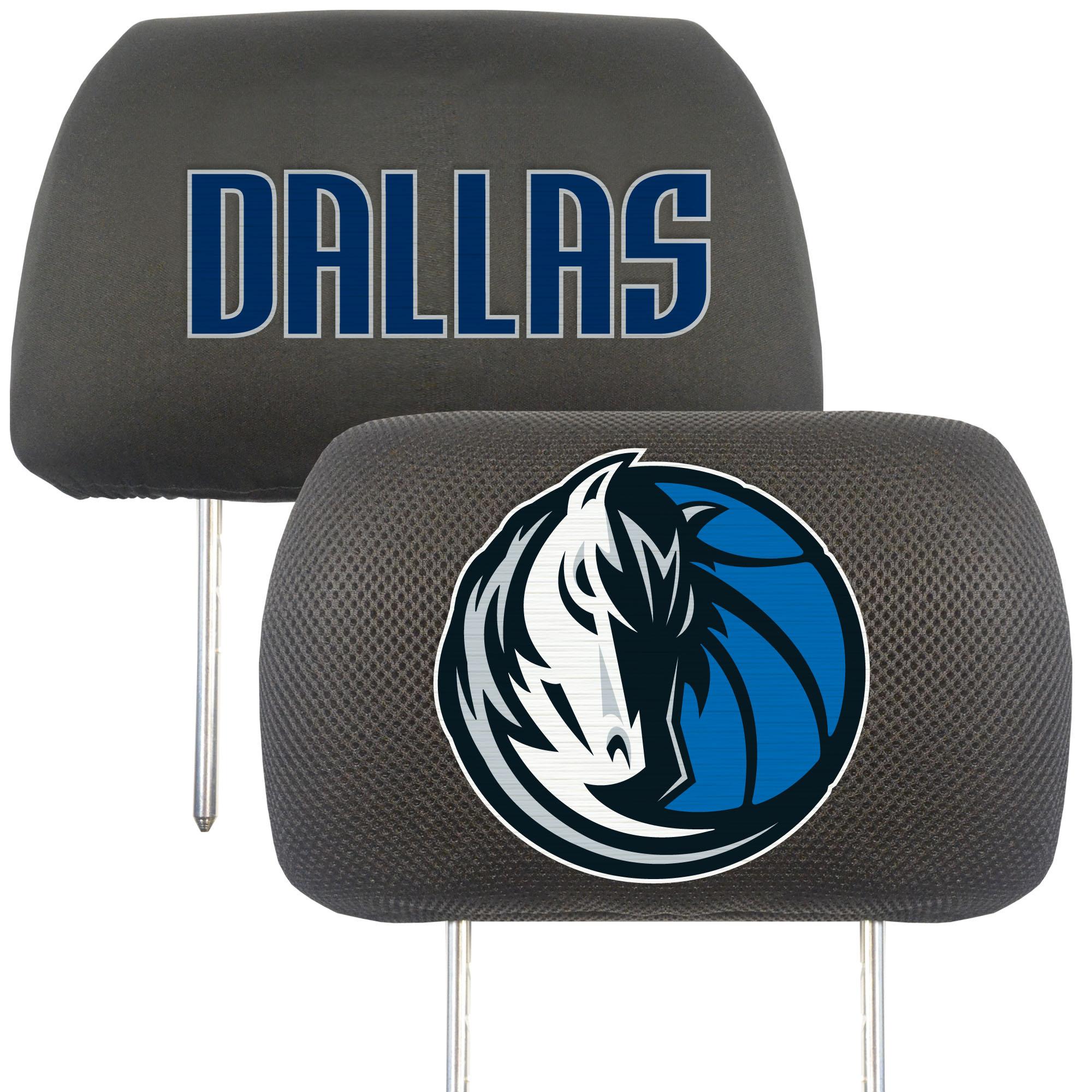 NBA Dallas Mavericks Head Rest Cover Automotive Accessory