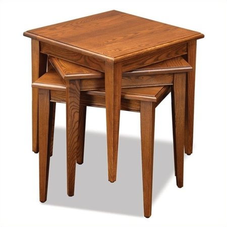 Artisan Oak Rectangular Table (Bowery Hill Stacking Table Set in Medium Oak Finish )
