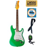 Oscar Schmidt  Double Cutaway Electric Guitar,Seafoam Green, OS-300 SFG Bundle, OS-300 SFG COMP