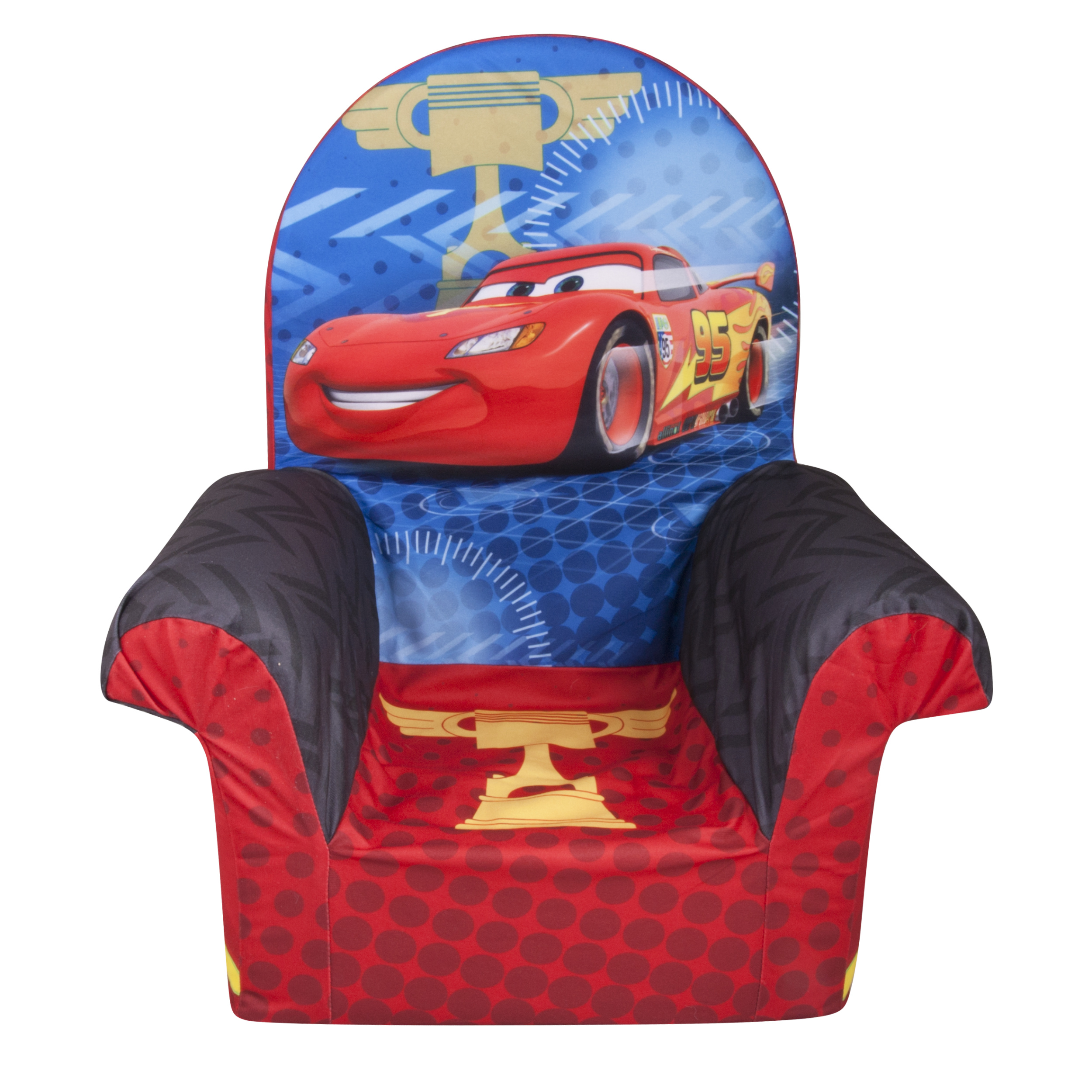 Marshmallow Furniture, Children's Foam High Back Chair, Disney/Pixar Cars 2 High Back Chair