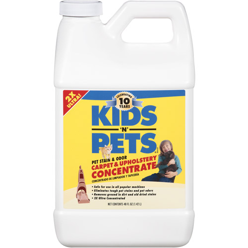 Kids 'N' Pets Pet Stain & Odor Carpet & Upholstery Concentrate, 48 oz