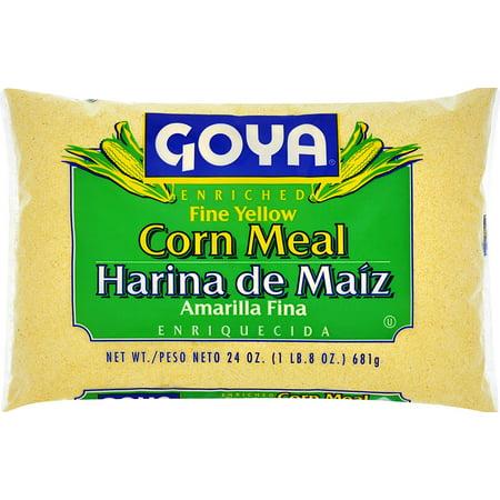 Goya Harina de Maiz Amarilla Fina. Yellow Corn Meal,  24 oz ()