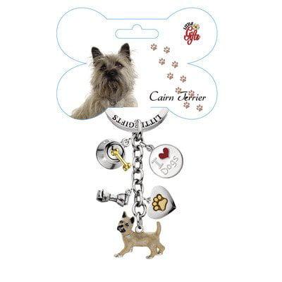 Cairn Terrier Enameled Keychain
