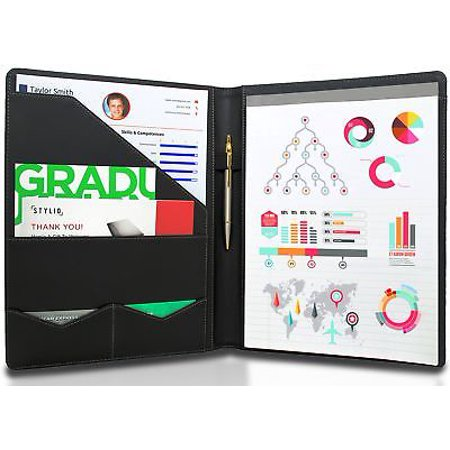 stylio padfolio resume portfolio folder interview legal document organizer - Resume Folder Walmart