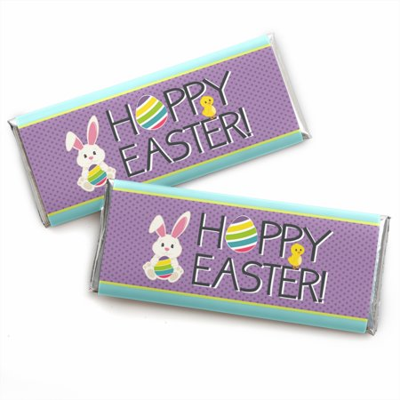 Hippity Hoppity - Candy Bar Wrapper Easter Bunny Party Favors - Set of 24](Candy Bar Bags)