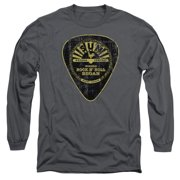 Sun Records Guitar Pick Mens Long Sleeve Shirt