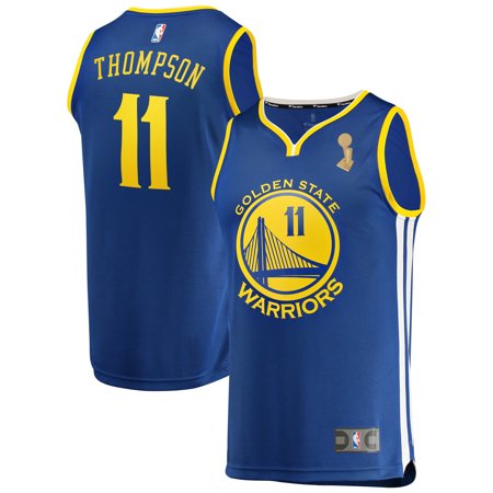 promo code 79cf9 7551a Klay Thompson Golden State Warriors Fanatics Branded Youth Royal 2018 NBA  Finals Champions Fast Break Replica Player Jersey - Icon Edition - ...