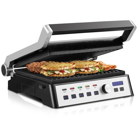 Gymax Electric Grill 1500W LCD Touch Display&Removable Plates Non-stick Indoor (Grail Kitchen)