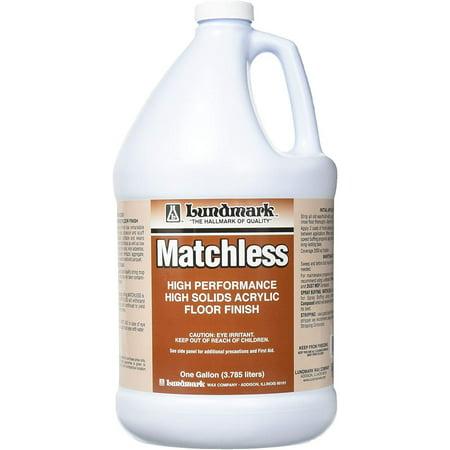 Lundmark Matchless High Performance Floor Finish, 1-Gallon, 3306G01-4 Non Buff Floor Finish