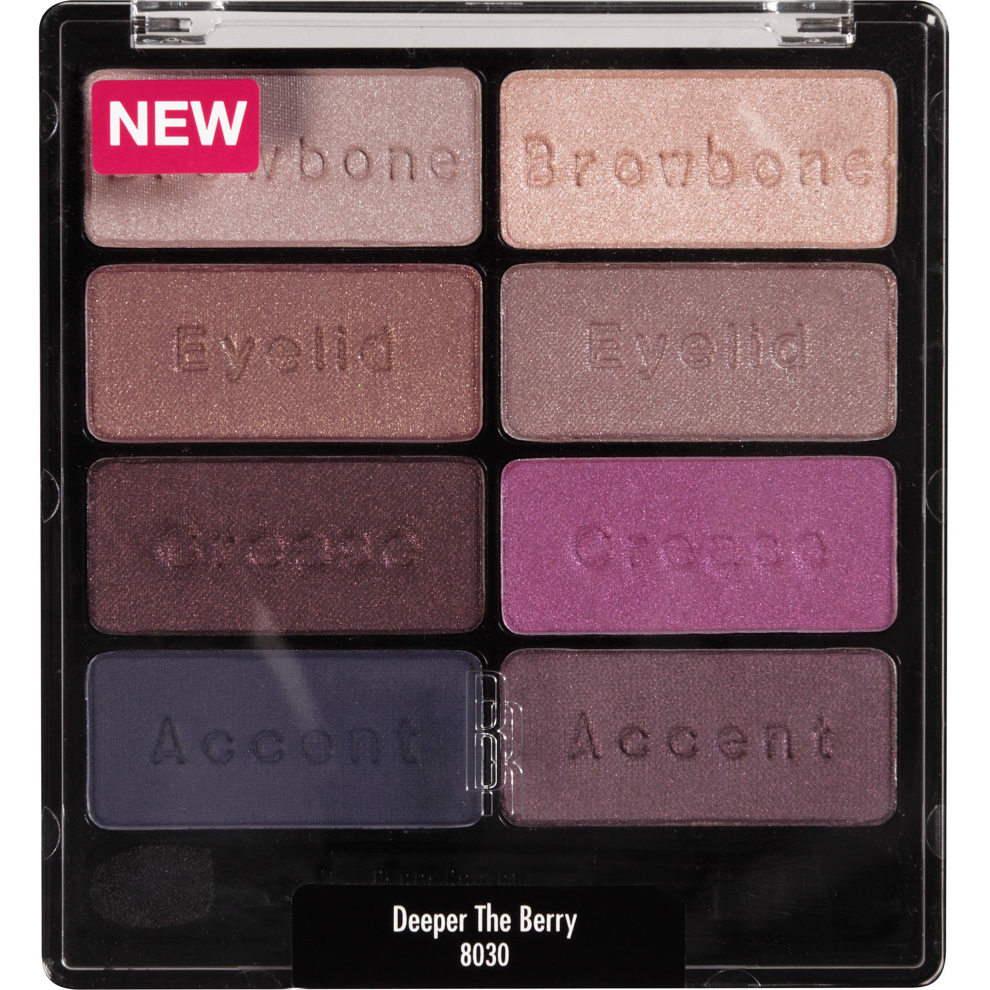 Black Radiance Eye Appeal Shadow Collection Eye Shadow, 8030 Deeper the Berry, 0.3 oz