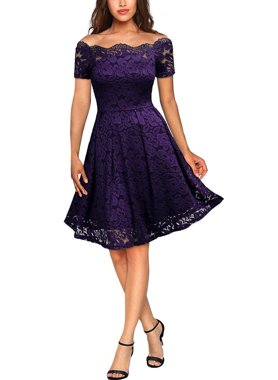 FarJing Christmas Dress Women Dress Long Sleeve Evening Knee Length Party Dress