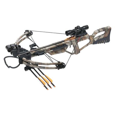 CenterPoint Dusk Hunter 370 Compound Crossbow Bundle, Camo