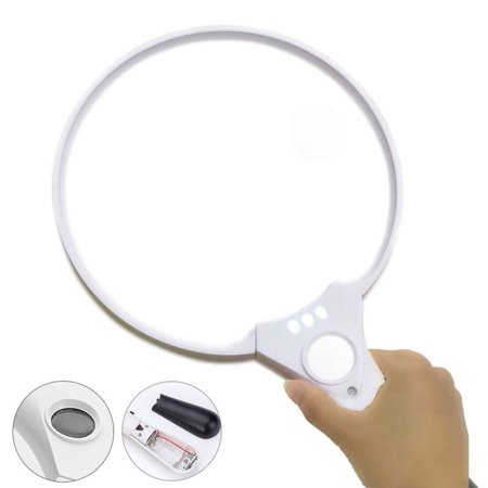 Extra Large Handheld Reading Magnifier 25X Magnifying Glass With 3 LED Lights - Magnifier Glasses