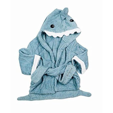 enjoy best price new arrival cheaper sale Pollywog Baby Shark Towel Robe - Blue Thick Terry Cloth Shark Robe Towel  (1-2 year Olds)
