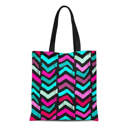 LADDKE Canvas Tote Bag Doodle Pattern Modern Ink Artistic Authentic and Unique Scrapes Reusable Shoulder Grocery Shopping Bags Handbag