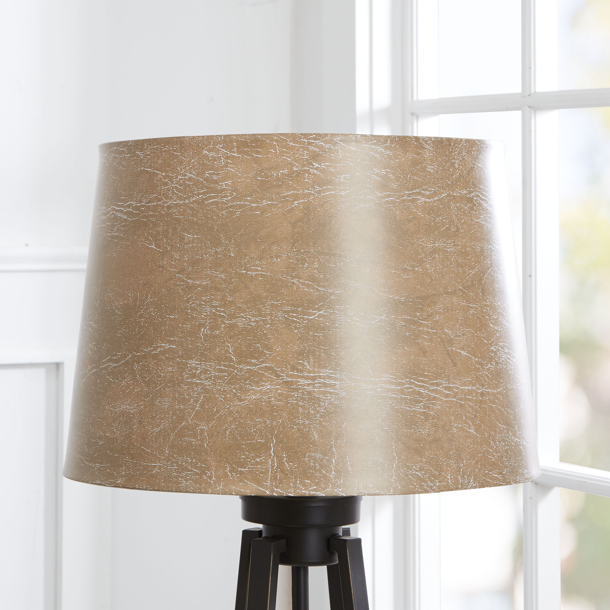 Better Homes & Gardens Faux Distressed Leather Drum Lampshade by Cheyenne Products
