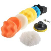 10pcs 3 Inch 80mm Buffing Pad Polishing Pad Kit For Car Polisher with M10 Thread