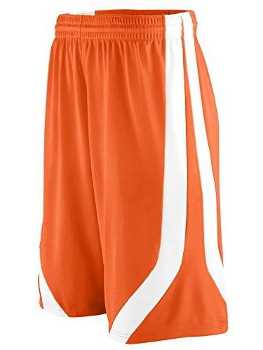 Augusta Sportswear MEN'S TRIPLE-DOUBLE GAME SHORT 3XL Orange/White