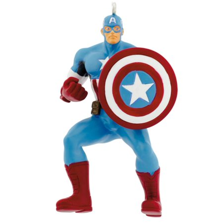 Hallmark Marvel Avengers Captain America Superhero Christmas Tree Ornament 62 - Avengers Ornaments