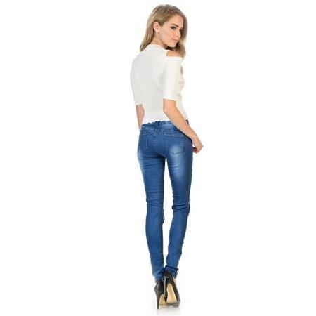 Sweet Look Premium Edition Women's Jeans · Skinny · Style CH134H-R - image 2 de 4