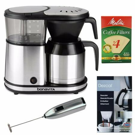 Bonavita BV1500TS 5-Cup Coffee Maker Bundle with Coffee ...