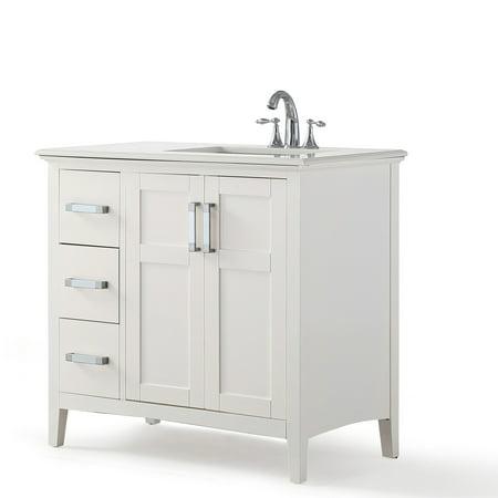 Brooklyn + Max Wilshire 36 inch Contemporary Bath Vanity ...