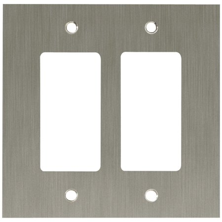 Concave 2-Gang Double Decorator / Rocker / GFCI Device Wall Switch ...