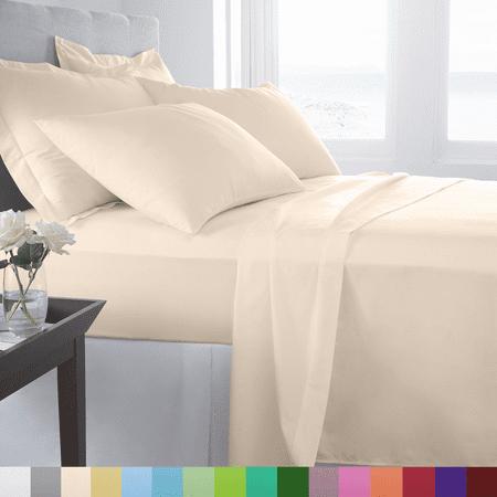 Supreme Super Soft 4 Piece Bed Sheet Set Deep Pocket Bedding - All Colors - Halloween Color Sheets Printable