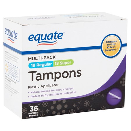 Equate Unscented Tampons Multi-Pack, 36 Count (Tampon Convenience Pack)